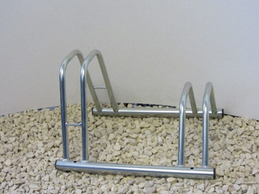 2 Section Dual Height Cycle Rack- Flat Top