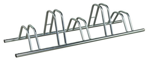 5 Section Dual Height Cycle Rack- Flat Top